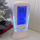 Creative LED luminous music meter clock alarm clock calendar clock blue back NE