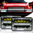 "GMC C4500 Chevrolet C5500 Kodiak 4x6"" DRL High/Low LED Headlights 2PCS"