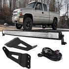 "50"" 2808W Curved LED Light Bar +Mount Bracket For Chevy Silverado 1500 2500 3500"