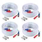 ANNKE (4) 30M/ 100ft All-in-One BNC Video Power Cables, BNC Extension Wir... New