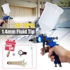 Car Plastic Air Gravity Feed Spray Paint Gun Airbrush 600CC Capacity + Pressure