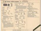 1968 PONTIAC TEMPEST/FIREBIRD V8 350ci/265 hp Car SUN ELECTRONIC SPEC SHEET