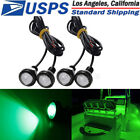 4x Green LED Boat Light Waterproof Outrigger Spreader Transom Underwater Marine