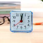 Modern Mini Quartz Clock Travel Alarm Clock Bedroom Home Table Clock Blue