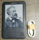 Amazon Kindle Keyboard (3rd Generation) D0090, eReader, w/Cord, (Poor Condition)