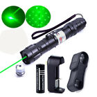 5mw 532nm Laser Pointer Lazer Pen Visible Beam Ray Zoom+18650 Battery+Charger