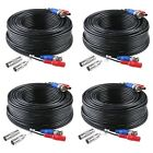 ANNKE 100 Feet (30 meters) 2-In-1 Video/Power Cable Systems - Black [4 pk]
