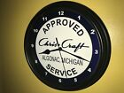 Chris Craft Wooden Boat Yacht Fishing AppService Garage Wall Clock Sign