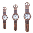 Big Watch Design Wall Clock Wooden Wall Clock for Home Office Bar Decor