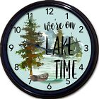 """Lake Time Cabin Wall Clock Cottage Time Lodge Mountains Vacation Ski New 10"""""""