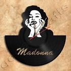 Madonna Wall Clock Vinyl Record Clock Upcycled Gift Idea