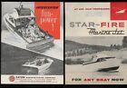 c. 1960 Motor Boat Brochures Eaton INTERCEPTOR & STAR-FIRE Marine Jet Propulsion
