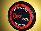 Ranger Fisherman Bass Boat Fishing AppService Garage Wall Clock Sign