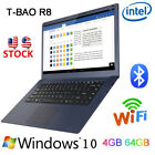 "T-BAO R8 15.6"" 1920*1080 Intel Win 10 4GB 64GB WIFI HDMI BT Thin Notebook Laptop"