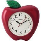 """WESTCLOX Westclox 3-dimensional Apple 10"""" Wall Clock"""