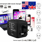All-in-One Muti-nation Power Adapter Outlet Plugs 2.4A Dual USB for UK US AU EU