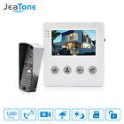 JeaTone 4 Inch Wired Video Door Phone Doorbell Intercom System Kit 1 Camera