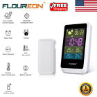 Wireless Color Thermometer Hygrometer Weather Station Temperature Monitor Clock