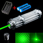 Military 50Miles 532nm Green Laser Pointer Pen Visible Beam Light +18650+Charger