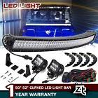 "50"" Curved LED Light Bar Combo+Plug&Play Wirings Yamaha Rhino Viking VI YXZ 1000"