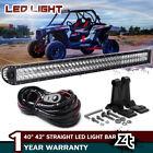 Polaris Ranger 570 900 1000 Fullsize 40/42'' Straight LED Light Bar Combo+Wiring