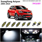 7Pcs HID Xenon White 6000K Interior Light Kit LED For 2005-2014 SsangYong Actyon
