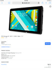 "RCA RCT6973W43 SD Black Voyager III 7"" 16GB Tablet Android Dual Camera"