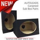 "Autoleads B-BOX69 Car Speaker Carpeted Sub Box Pair 6""x9""│Sealed Enclosure│BLK"