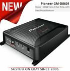 Pioneer GM D8601 Mono 1600W Class-D With Bass Boost Remote Car Audio Amplifier