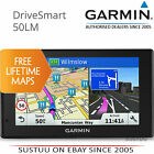 Garmin DriveSmart 50LM│5'' GPS SatNav│FREE Lifetime Maps Full Europe│Bluetooth