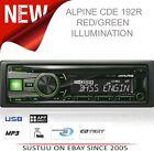 Alpine CDE 192R RADIO/CD/MP3/IPOD/USB/3.5 AUX Car Media Receiver 1YEAR WARRANTY