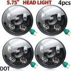 "5 3/4"" 5.75 CREE Round Projector LED Headlights Sealed Beam HeadLamp Light Bulbs"