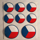 Czech Republic Air Force Stickers Roundel Cockade 3D Adhesive Flag Resin Domed