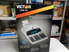 Victor 1240-3A Antimicrobial Printing Calculator Black/Red Print (NEW) #R584