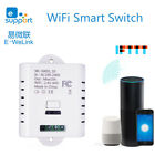 AC 110-240V Wi-Fi Switch Smart Plastic White 2.4G Wireless Remote Control 10A