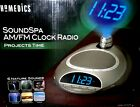 HoMedics SS4500A Sound Spa Clock Radio/ Natural Sounds/ Time Projection