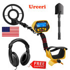 Waterproof Metal Detector LCD Gold Jewelry Hunting Finder Search Coil &Headphone