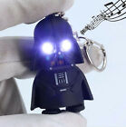 Light Up LED Star Wars Darth Vader With Sound Flashlight Keychain Keyring 1pc