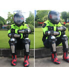 Motorcycle Stainless Steel Elbow Knee Pads Armour Shin Guards Protective Gear YY