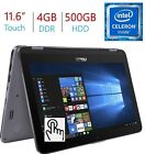 """2018 Newest Business Asus VivoBook Flip 11.6"""" 2-in-1 HD Touchscreen Lapto... New"""