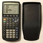Texas Instruments TI-83 Plus Graphing Calculator and Cover - Black -Works Great!