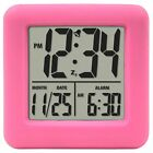 Pink Cube Alarm Clock Extra Loud For Kids Heavy Sleeper Atomic Waker