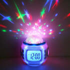 Room Sky Children Baby Star Night Light Projector Lamp Bedroom Alarm Music Clock