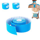 2 Roll 5m x 5cm Sport Muscles Care Health Physio Therapeutic Elastic Tape Blue