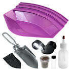 """Gold Claw Starter KIT w/ 12"""" Gold Pan PURPLE, Sand Scoop, Led Magnifier & More"""