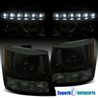 For 2003-2007 Silverado Black Smoke 2in1 Projector LED DRL Head Bumper Lights