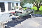 Fishing Boat and Trailer 14' Grumman Jon Boat