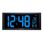 AcuRite 76100M Oversized LED Clock with Indoor Temperature, Date and Fold-Out