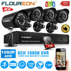 8CH 1080N AHD DVR 4X Outdoor 1500TVL 720P 1.0MP IP Camera Security CCTV System