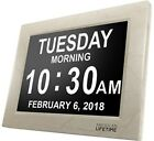 Day Clock Extra Large Impaired Vision Digital Time with Alarm Marble